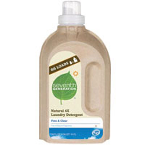 Seventh Generation Natural Laundry Detergent 4X Free & Cl...